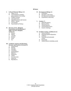 ADA Biology Outline